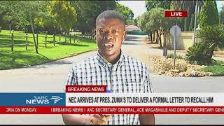 NEC arrives at Pres. Zuma's to deliver a formal letter to recall him