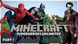 [RO] Minecraft mod showcase -Superheroes Unlimited 1.7.10 Part 1 [HD]