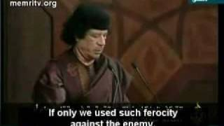getlinkyoutube.com-Gaddafi speech:'America hanged Saddam and we might be next! (with English)