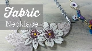 getlinkyoutube.com-DIY Fabric Statement Necklace