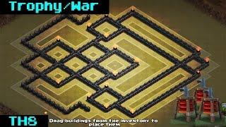 getlinkyoutube.com-Clash Of Clans | TH8 ANTI-AIR WAR BASE 2015 [Sweeper]