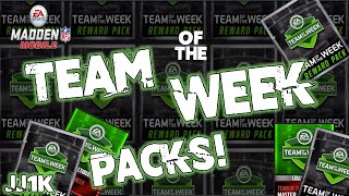 getlinkyoutube.com-62 Team of the Week Packs! - Madden Mobile 16