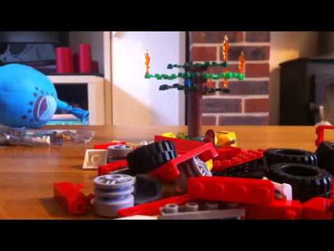 Lego fire engine build time lapse
