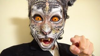 getlinkyoutube.com-タイガーメイク方法(化粧)Tiger Makeup Tutorial