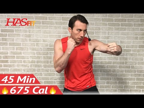 45 Min Ultimate Cardio Kickboxing Workout - MMA Training & UFC Kickbox Workout Class for Women & Men