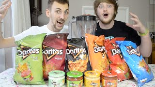 getlinkyoutube.com-Eating Blended Doritos Tortilla Chips & Dips | WheresMyChallenge