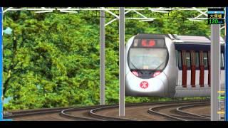 getlinkyoutube.com-openbve East Rail Line with EAL SP1900