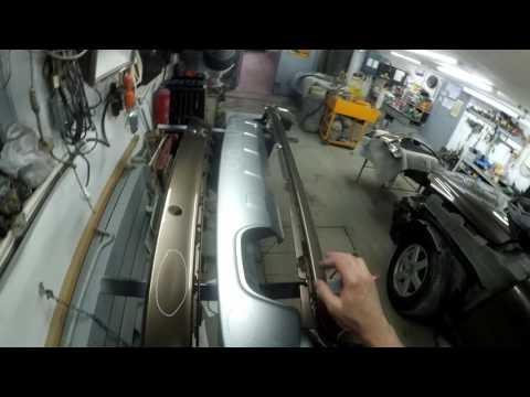 Вольво ХС 90 - ремонт бамперов и переднего крыла.