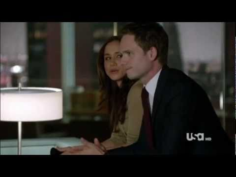 "The Suits - Mike and Rachel Scene 1.04 ""I can't date anyone from the office"""