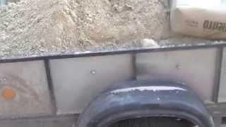 getlinkyoutube.com-В прицеп грузоподъёмностью 425 кг я погрузил 1150 кг!!! Старт.