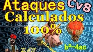 getlinkyoutube.com-CLASH OF CLANS TH8 - 100% ataques calculados cv8(#01)