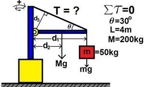 getlinkyoutube.com-Physics - Mechanics: Torque (1 of 7)  Mass on Rod and Cable
