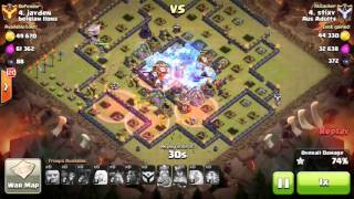Clash of Clans - TH10 3 Star War Attacks #014 - Aus Adults - AQ Walk, Lavaloon, Hogs and Witches