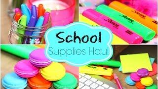 getlinkyoutube.com-Back To School Supplies Haul!