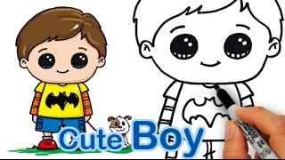 getlinkyoutube.com-How Draw a Cute Boy Easy