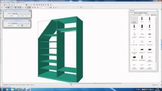 getlinkyoutube.com-Projekt szafy pod skosem. Skośna szafa.
