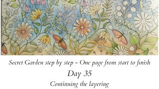 getlinkyoutube.com-Secret Garden step by step - Day 35 - Continuing the layering