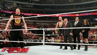 getlinkyoutube.com-Brock Lesnar calls out Seth Rollins: Raw, January 19, 2015