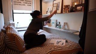 getlinkyoutube.com-Woman's half-bedroom apt has awesome design - Tiny, Eclectic, Amazing Spaces video