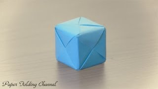 getlinkyoutube.com-Origami 3D Cube