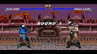 getlinkyoutube.com-Mugen Mortal Kombat Trilogy Extended Gameplay Cyber Sub zero