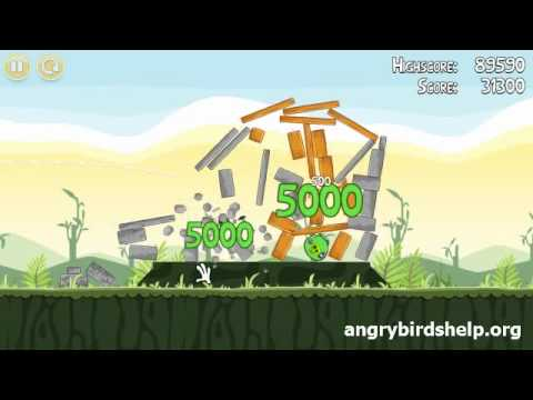 Angry Birds Level 2-13 - 3 Star Walkthrough