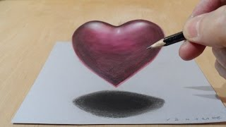 3D Drawing Heart, Floating  Heart