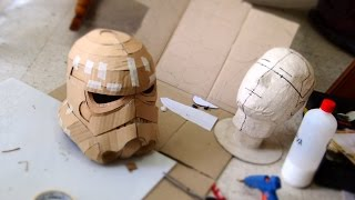 getlinkyoutube.com-#75: Stormtrooper Helmet Part 1 - Cardboard (free PDF) | Costume | How To | Dali DIY