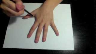 getlinkyoutube.com-Draw a 3d Hand - Optical Illusion
