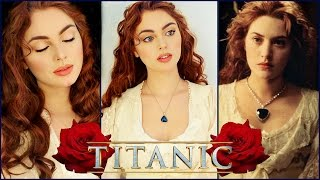 "getlinkyoutube.com-Rose From ""Titanic"" Makeup Tutorial 🌹"