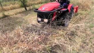 Trattore Carraro tigre 4000 con trincia spostamento idraulico a mazze - Sardegna