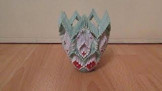 getlinkyoutube.com-3D Origami Vase Tutorial #6