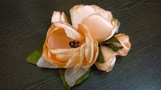 getlinkyoutube.com-D.I.Y. Satin Peony Flower - Tutorial | MyInDulzens
