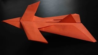 getlinkyoutube.com-How to make a cool paper plane origami: instruction| Star fighter