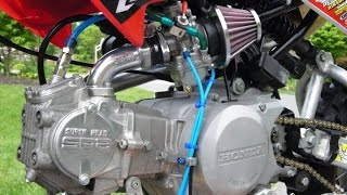 getlinkyoutube.com-Test dàn hơi xe độ - Honda 67 độ full máy Takegawa Japan (Ga vặn là có)