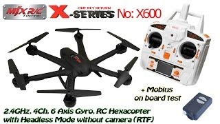 getlinkyoutube.com-MJX X600 2.4GHz, 4Ch, 6 Axis Gyro, RC Hexacopter with Headless, without camera (RTF) + Mobius