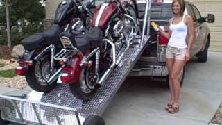 getlinkyoutube.com-Loading up Two Harley's The Easy Way - Elevation Trailers