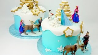 getlinkyoutube.com-How To Make A Frozen Cake By Cake Craft World
