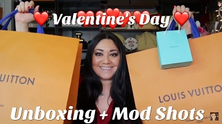 getlinkyoutube.com-Valentine's Day Unboxing | Louis Vuitton  | Tiffany & Co. + Mod Shots!!!
