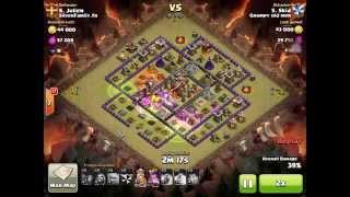getlinkyoutube.com-6 Golem strategy vs high lvl th10 ring bases