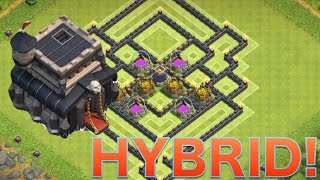 """getlinkyoutube.com-Clash of Clans - """"NEW UPDATE"""" BEST TH9 Hybrid Base With 2 Air Sweepers"""