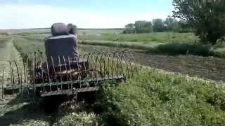 getlinkyoutube.com-Мини трактор из мотоблока Зирка LX-1091+покос люцерны на сено