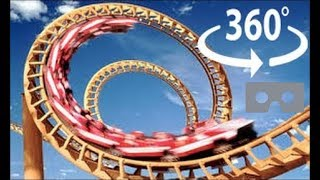 getlinkyoutube.com-Roller Coaster 360 Virtual Reality - The X2 at Six Flags