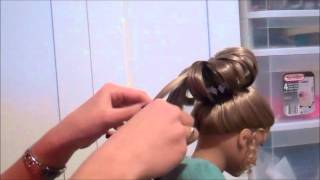 getlinkyoutube.com-American Girl Fancy Bun Hairstyle!