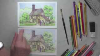 getlinkyoutube.com-How To Use Watercolour Pencils