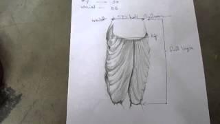 getlinkyoutube.com-How to Make Dhoti Patiala Salwar part 1 of 7 hindi