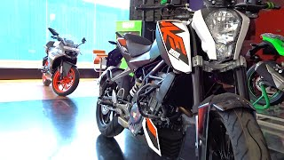 getlinkyoutube.com-#Bikes@Dinos: KTM Duke 200 All Colours Walkaround Review, Test Ride