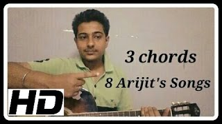 getlinkyoutube.com-3 Chords and 8 Arijit Singh songs On Guitar Lesson for Begginers| Aashiqui 2 and other songs