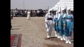 getlinkyoutube.com-tbourida: تحية سربة المقدمة افراح عواش لوالي ولاية  مراكش