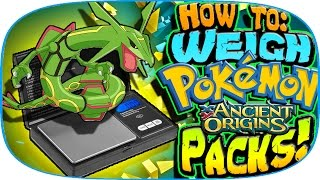 getlinkyoutube.com-How to Weigh Pokemon Ancient Origins Packs!! | Booster Pack Opening | Rare Full Arts!
